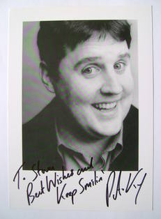 Peter Kay autograph