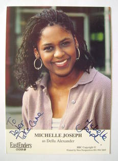 Michelle Joseph autograph (ex EastEnders actor)