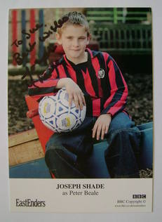 Joseph Shade autograph (ex EastEnders actor)