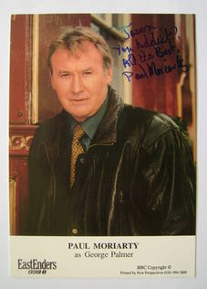 Paul Moriarty autograph (ex EastEnders actor)