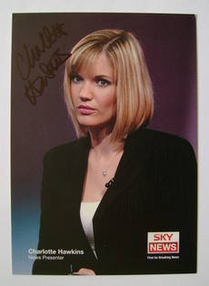 Charlotte Hawkins autograph (hand-signed photograph)