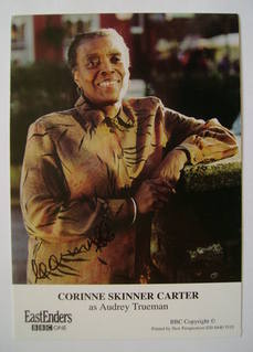 Corinne Skinner Carter autograph (ex EastEnders actor)