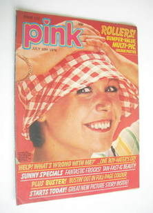 Pink magazine - 10 July 1976 - Julie Peasgood cover