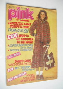 Pink magazine - 17 December 1977 - Leslie Ash cover