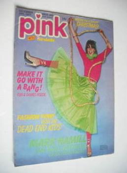 Pink magazine - 24 December 1977 - Leslie Ash cover