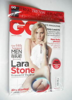 British GQ magazine - October 2011 - Lara Stone cover