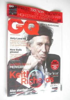 British GQ magazine - October 2011 - Keith Richards cover
