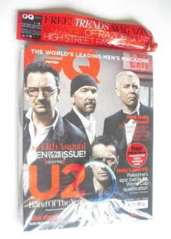 British GQ magazine - October 2011 - U2 cover
