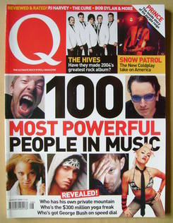 <!--2004-08-->Q magazine - 100 Most Powerful People In Music cover (August