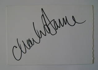 Charles Dance autograph (hand-signed card)