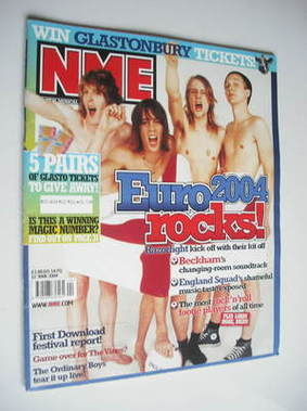 <!--2004-06-12-->NME magazine - Razorlight cover (12 June 2004)
