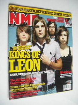 NME magazine - Kings Of Leon cover (23 October 2004)