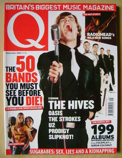<!--2002-09-->Q magazine - The Hives cover (September 2002)