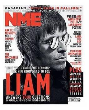 <!--2011-11-12-->NME magazine - Liam Gallagher cover (12 November 2011)