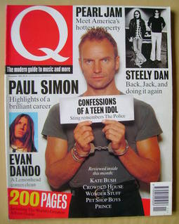 Q magazine - Sting cover (November 1993)