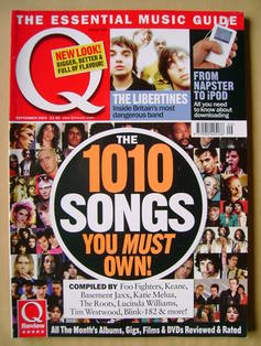 <!--2004-09-->Q magazine - The 1010 Songs You Must Own! cover (September 20