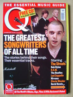 <!--2004-10-->Q magazine - The Greatest Songwriters Of All Time cover (Octo