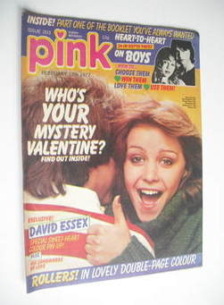 Pink magazine - 12 February 1977 - Leslie Ash cover