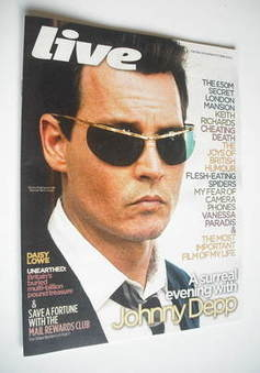 <!--2011-10-30-->Live magazine - Johnny Depp cover (30 October 2011)
