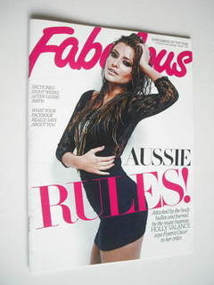 <!--2011-10-01-->Fabulous magazine - Holly Valance cover (1 October 2011)