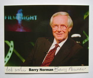 Barry Norman autograph (hand-signed photograph)