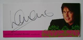 Laurence Llewelyn-Bowen autograph