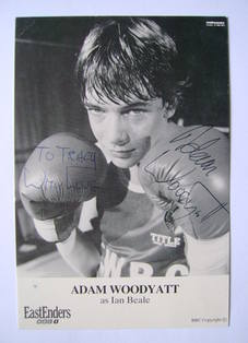 Adam Woodyatt autographed photo (EastEnders actor)