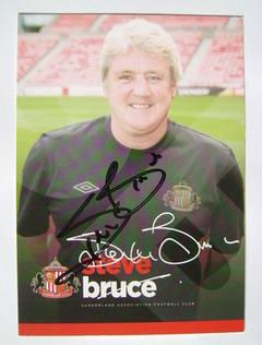 Steve Bruce autograph