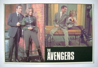 Honor Blackman autograph (hand-signed The Avengers photocard)