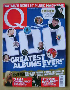 <!--2003-01-->Q magazine - 100 Greatest Albums Ever! cover (January 2003)
