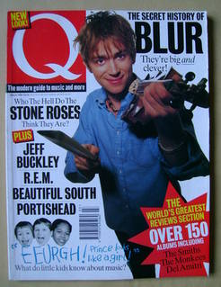 Q magazine - Damon Albarn cover (March 1995)