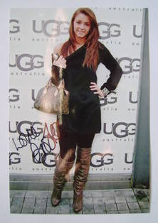 Brooke Vincent autograph (hand-signed photograph)