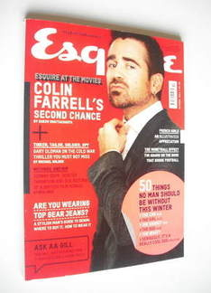 <!--2011-10-->Esquire magazine - Colin Farrell cover (October 2011)