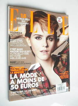 <!--2011-09-09-->French Elle magazine - 9 September 2011 - Emma Watson cove