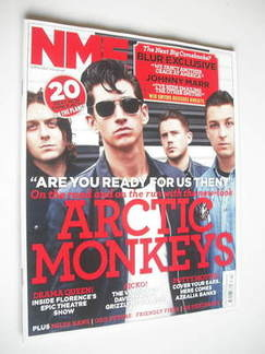 <!--2011-11-05-->NME magazine - Arctic Monkeys cover (5 November 2011)