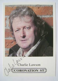 Charlie Lawson autograph (hand-signed cast card)