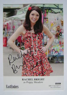 Rachel Bright autographed photo (EastEnders actor)