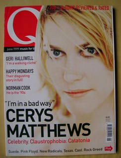 <!--1999-06-->Q magazine - Cerys Matthews cover (June 1999)