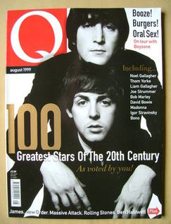 <!--1999-08-->Q magazine - John Lennon and Paul McCartney cover (August 199