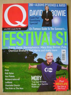 <!--2000-07-->Q magazine - Moby cover (July 2000)