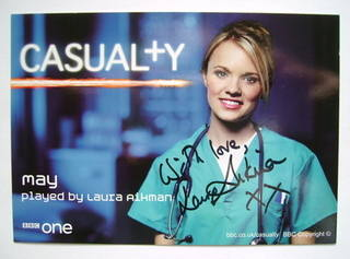 Laura Aikman autograph (ex-Casualty actor)