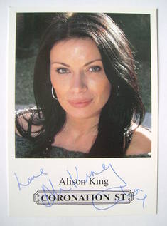 Alison King autograph (hand-signed photograph)