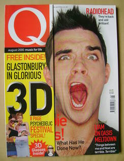 <!--2000-08-->Q magazine - Robbie Williams cover (August 2000)