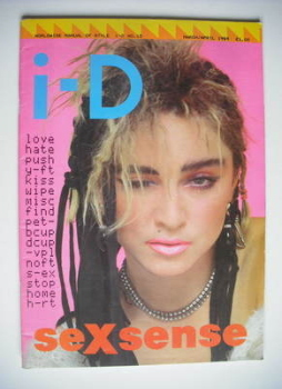 i-D magazine - Madonna cover (March 1984/April 1984)