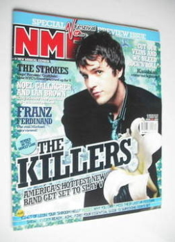 NME magazine - The Killers cover (21 August 2004)