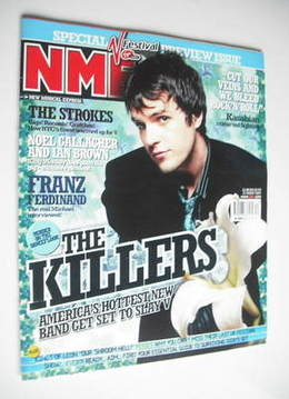 <!--2004-08-21-->NME magazine - The Killers cover (21 August 2004)