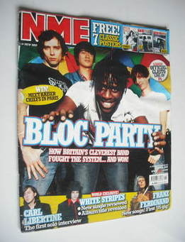 <!--2005-04-16-->NME magazine - Bloc Party cover (16 April 2005)
