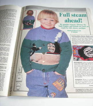 Woman's Weekly magazine knitting pattern (Thomas The Tank Engine cardigan)