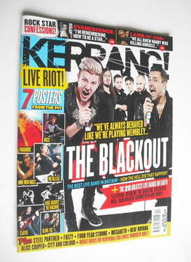 <!--2011-11-05-->Kerrang magazine - The Blackout cover (5 November 2011 - I