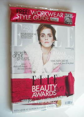 <!--2011-11-->British Elle magazine - November 2011 - Emma Watson cover